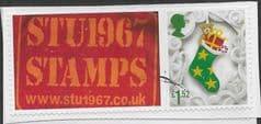 2016 £1.52 (S/A) 'CHRISTMAS' + STU1967 TAB FINE USED