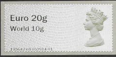 2016 U/M EURO20g /WORLD 10g 'POST & GO' (MA16) (SWANSEA)