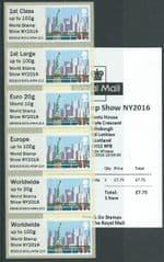 2016 U/M 'SEA TRAVEL 'WORLD STAMP SHOW NY2016)' (MA15) COLLECTOR SET (6v)
