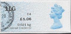 2017 £1.06 '1LG' (C4) '2ND CLASS'. ( CL17)(ERROR) FINE USED