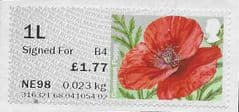 2017 1L SIGNED FOR (B 4) 'SYMBOLIC FLOWERS -COMMON POPPY (R17YAL)'(POSTCODED)