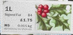 2017 1L SIGNED FOR (B 4) 'SYMBOLIC FLOWERS -HOLLY (R17YAL)'(POSTCODED) FINE USED