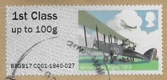 2017 1ST 'HERITAGE MAIL BY AIR'  ( TYPE IIIa EX TALLENTS HOUSE)  FINE USED