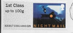 2017 1ST (S/A) 'TRAVELLING POST OFFICE -NIGHTMAIL '(TYPE IIIa)  FINE USED