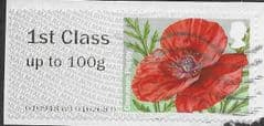 2017 1ST (UP TO 100g) 'COMMON POPPY' (R17YAL) FINE USED
