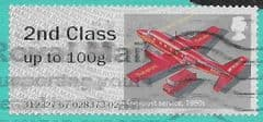 2017 2ND CLASS ON 1ST CLASS 'MAIL BY AIR (1980) ERROR FINE USED