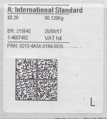 2017 A: INT'L STANDARD (H 4) ( NEW TYPE 4 PRINTING ON OLD WHITE LABEL)
