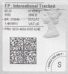 2017 FP: INTERNATIONAL TRACKED (O 5)TYPE 4b LABEL