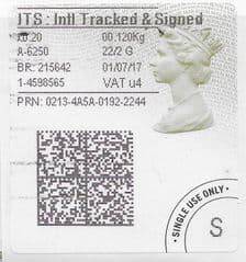 2017 ITS: INTERNATIONAL TRACKED AND SIGNED (U4) TYPE 4b LABEL