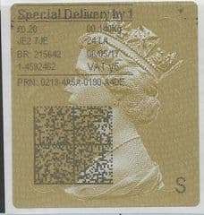 2017 SPECIAL DELIVERY BY 1  (Y5) TYPE 4 PRINTING ON GOLD TYPE 3 LABEL