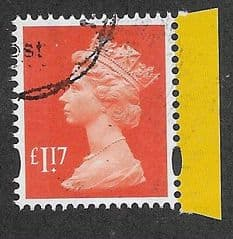 2018 £1.17  'BRIGHT ORANGE'(M_IL M18L) MACHIN (EX R.A.F PRESTIGE BOOKLET PANE)  FINE USED