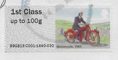 2018 1ST 'MAIL BY BIKE  -  MOTORCYCLE 1965' (TYPE IIIa) FINE USED