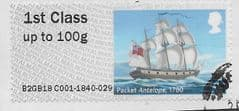 2018 1ST (S/A) 'PACKET ANTELOPE' (EX TALLENTS HOUSE) FINE USED