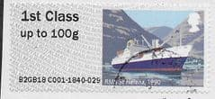 2018 1ST (S/A) 'RMS ST HELENA' (EX TALLENTS HOUSE) FINE USED