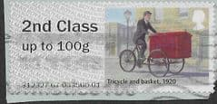 2018 2ND CLASS 'MAIL BY BIKE (1920)  ERROR FINE USED