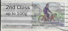 2018 2ND CLASS 'MAIL BY BIKE (1949)  ERROR FINE USED