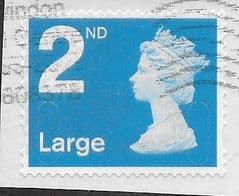 2018 2ND LARGE 'BRIGHT BLUE' (M18L) (4MM LARGE BACKGROUND SHIFT). FINE USED