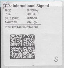2018 FP: INTERNATIONAL SIGNED (O5)( NEW TYPE 4 PRINTING ON OLD WHITE LABEL)