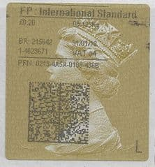 2018 FP: INTERNATIONAL STANDARD  (O4) TYPE 4 PRINTING ON GOLD TYPE 3 LABEL