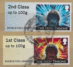 2018 (SET) 'GAME OF THRONES' (2v) (EX TALLENTS HOUSE) FINE USED