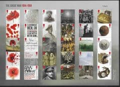 2018 U/M  'THE GREAT WAR 1914 -1918' COMPOSITE SHEET