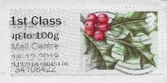 2019 1ST CLASS - 'HOLLY' (R19YAL) PRINTING SHIFT  ERROR FINE USED