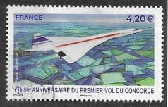 2019 €4.20  '50TH ANN OF 1ST CONCORDE FLIGHT' FINE USED