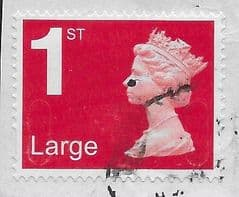 2020 1ST LARGE (S/A)  'BRIGHT SCARLET ' (NO CODES) MACHIN FORGERY FINE USED
