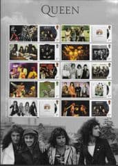 2020 U/M 'QUEEN  ALBUM COVER' COLLECTOR SHEET