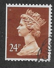 24P 'CHESTNUT'(LITHO)(PHOS)(WALSALL) FINE USED