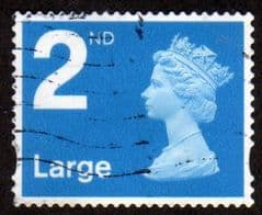 2ND (S/A)  LARGE' BRIGHT BLUE' FINE USED