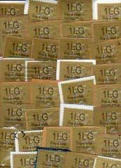 30x '1LG 'GOLD LABELS TYPE I  + TYPE II