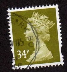 34P YELLOW OLIVE FINE USED.