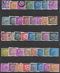 35x 'T.V LICENCE STAMPS' (SECONDS) FINE USED*