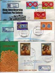 3X REG'D MALAYSIAN COVERS.(1969-74)