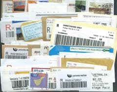 50x  VARIOUS WORLDWIDE REGISTERED LABELS. WILL INCLUDE DUPLICATES