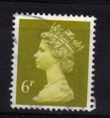 6P 'YELLOW OLIVE'  FINE USED