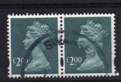 A PAIR OF £2.00 DP B GREEN(2003) FINE USED