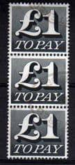 BLK OF 3 X £1.00 'TO PAY' FINE USED
