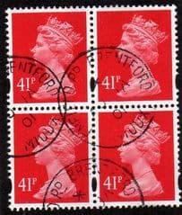 BLOCK OF 4 X 41P 'ROSINE' FINE USED