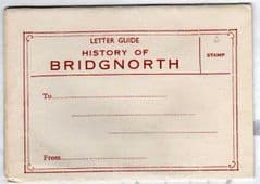 LETTER GUIDE TO THE HISTORY OF BRIDGNORTH