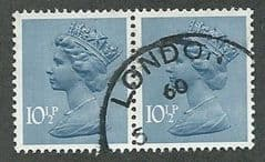 PAIR OF 10.5P 'DEEP DULL BLUE (2B)  FINE USED