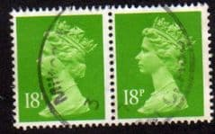 PAIR OF 18P 'BRIGHT GREEN' (CB) FINE USED