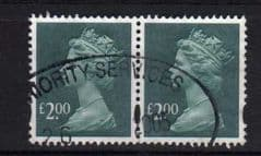 PAIR OF £2.00 DP B GREEN(2003) FINE USED