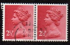PAIR OF 2.5P 'ROSE RED' FINE USED