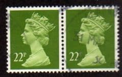 PAIR OF 22P 'YELLOW GREEN' FINE USED