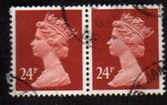 PAIR OF 24P 'INDIAN RED' FINE USED