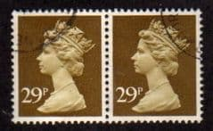 PAIR OF 29P 'OCHRE BROWN' FINE USED