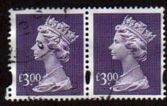 PAIR OF £3.00 'DULL VIOLET' FINE USED