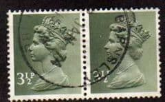 PAIR OF 3.5P 'OLIVE GREY'(2B) FINE USED